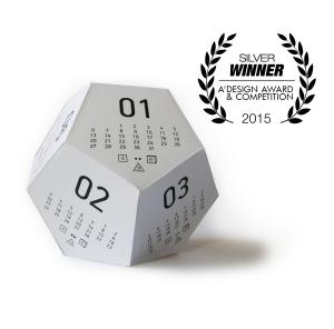 A'Design Award 2015 - Kockalendár / Dicecal - by Andrea Kis