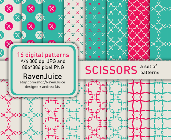 RavenJuice - the very first pattern set titled 'Scissors'