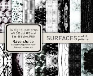 Surfaces pattern set - RavenJuice - siker