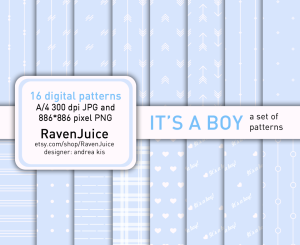 Etsy - RavenJuice pattern set