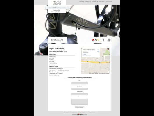 Regina Kerékpárbolt / webdesign / Kis Andrea