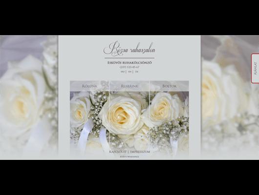 Rózsa Ruhaszalon honlap / Kis Andrea