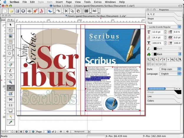 Scribus: kiadványszerkesztő szoftver ingyen