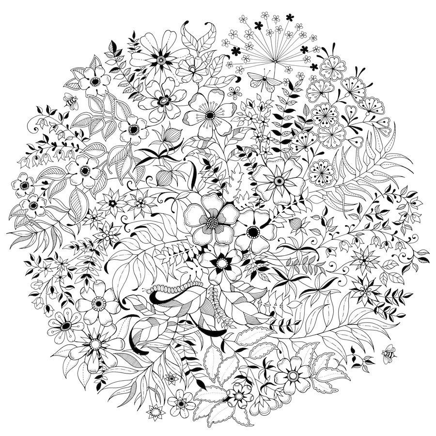 Felnőtt színezőkönyv kategóriában az egyik kedvencem Johanna Basford munkássága. Ez is vektoros.
