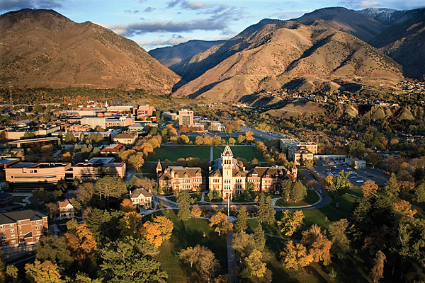 Így néz ki az USU és környéke Utah állam Logan városában.